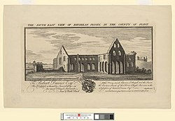 Samuel and Nathaniel Buck: The south east view of Rhuddlan Priory, in the county of Flint