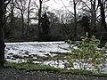 The weir at Banoge Bridge, Hall Road. Donaghcloney - geograph.org.uk - 1591086.jpg