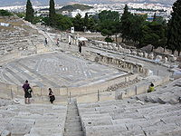 A typical open-air theater (Theater at Dionysus) at Athens