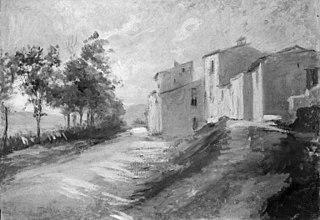 Road near Sulmona, Italy
