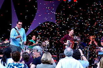Grammy Award for Best Musical Album for Children - Members of the 2009 award-winning group They Might Be Giants performing in 2009