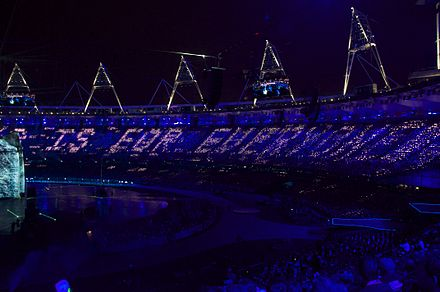 "Berners-Lee's tweet, ""This is for everyone"", at the 2012 Summer Olympic Games in London This is for Everyone.jpg"