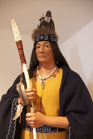 Passamaquoddy - A model of a Passamaquoddy Sakom from the 1500s