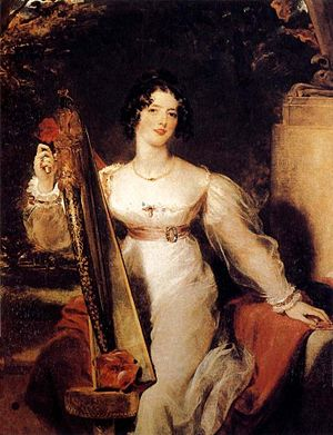 Elizabeth Conyngham, Marchioness Conyngham - Portrait of Lady Elizabeth Conyngham, the Marchioness's daughter, commonly misidentified as the Marchioness herself.  The portrait, painted by Sir Thomas Lawrence in the early 1820s, is in the Museu Calouste Gulbenkian, Lisbon.