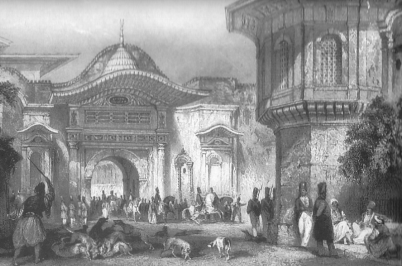 Thomas allom, c1840, The Enterance to Divan