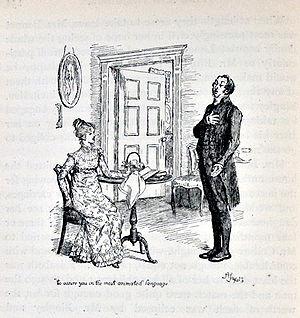 Mr. William Collins -  Mr. Collins proposes to Miss Elizabeth Bennet.