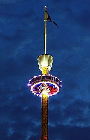Tiger Sky Tower - At night