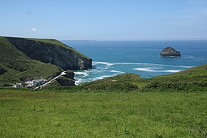 English: Tintagel: near Treknow Looking toward...