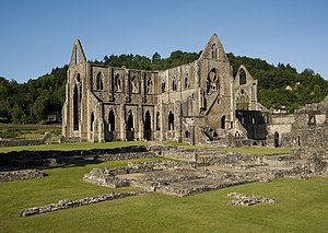 Tintern Abbey - Image: Tintern Abbey and Courtyard