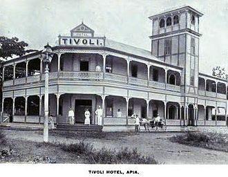 Second Samoan Civil War - Image: Tivoli Hotel, Apia 1896