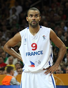 The 36-year old son of father Tony Parker, Sr. and mother Pamela Firestone, 185 cm tall Tony Parker in 2018 photo