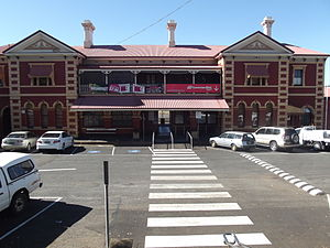Toowoomba railway station - Station front in July 2013