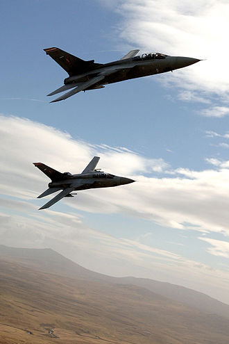 No. 1435 Flight RAF - Two Tornado F3s flying over the Falkland Islands in 2007
