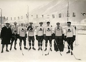 Ice hockey at the 1924 Winter Olympics - The Toronto Granites hockey club in Chamonix during the 1924 Winter Olympics