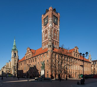 Toruń - Gothic City Hall (Ratusz) dates back to the 13th century