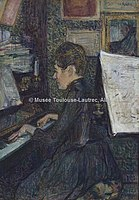 Toulouse-Lautrec - M'ELLE DIHAU AU PIANO, 1890, MTL.132.jpg