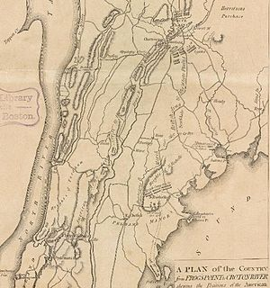 Battle of Pell's Point - The British movements from Pell's Point to White Plains.