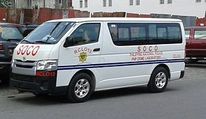Philippine National Police - Image: Toyota Hiace