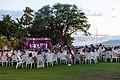 Traditional Hawaiian Luau dinner at Block Rock Maui, Hawaii (30800256547).jpg