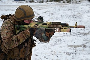 Ukrainian Ground Forces - Ukrainian special forces soldier during an exercise.