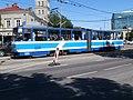 Tram 120 at Viru Junction in Tallinn 17 June 2015.JPG