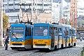 Tram in Sofia near Russian monument 016.jpg