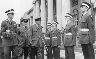 Royal Air Force College Cranwell - The Lord Trenchard inspecting cadets