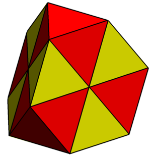 Deltahedron - Image: Triangulated truncated tetrahedron