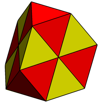 Truncated tetrahedron - Image: Triangulated truncated tetrahedron