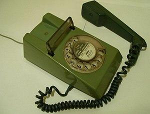 Off-hook -   Off hook telephone.