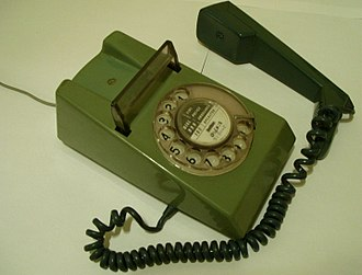 On- and Off-hook - Off hook telephone.