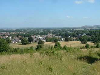 Tring - View over Tring, looking north