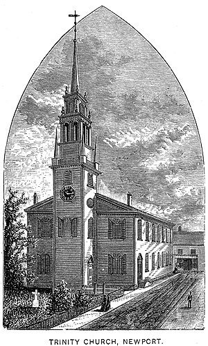 Trinity Church (Newport, Rhode Island) - Image: Trinity Church Newport engraving