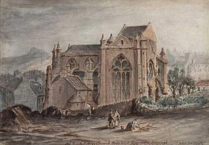 Trinity College Kirk - Watercolour from the early 1840s depicting the church