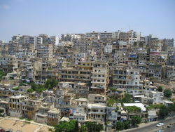 A residential district in eastern Tripoli