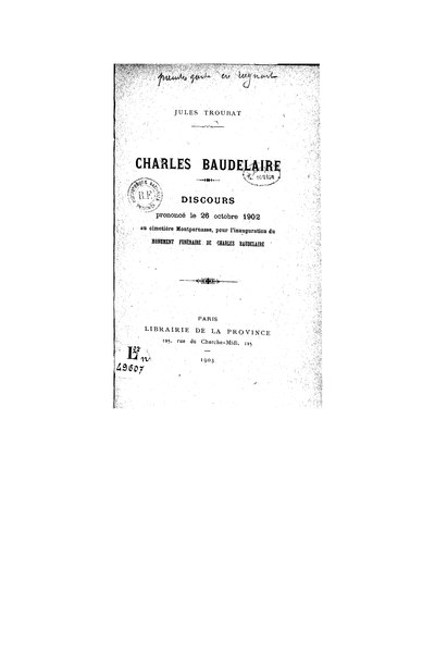 File:Troubat - Charles Baudelaire, 1903.djvu