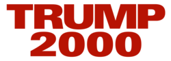 Logo for Donald Trump's 2000 presidential campaign