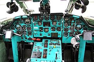 Tupolev Tu-134 - Tu-134UBL cockpit
