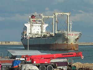 Tunisian Bulk carrier El Kef - IMO 8021139 - 13 Feb. 2012.jpg