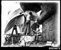Two sailors cleaning a propeller of the French warship BELLATRIX, 1930-1932 (7633467766).jpg