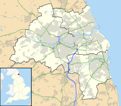 Mapa lokalizacyjna Tyne and Wear