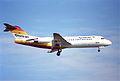 Tyrolean Airways Fokker 70; OE-LFH@ZRH;08.02.1997 (6168794309).jpg