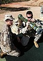 U.S. Marine Corps Cpl. David Savage, left, a squad leader with Weapons Platoon, Lima Company, 3rd Battalion, 3rd Marine Regiment, Marine Rotational Force-Darwin, teaches Capt. Kevin Baltisberger, a forward air 130523-M-AL626-0336.jpg