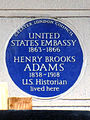 UNITED STATES EMBASSY 1863-1866 HENRY BROOKS ADAMS 1838-1918 U.S. Historian lived here.jpg