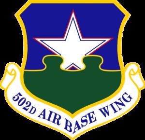 502d Air Base Wing - Image: USAF 502d Air Base Wing