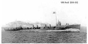USS Reid (DD-21) - Image: USS Reid DD21