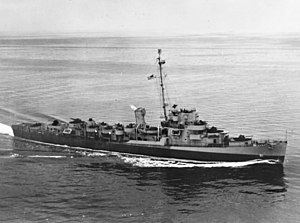 USS Buckley (DE-51) underway in the Atlantic Ocean on 10 June 1944 (80-G-236608)