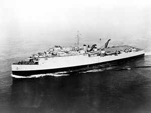 USS Epping Forrest (LSD-4) at sea, date and location unknown.