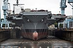 USS Gerald R. Ford (CVN-78) in dry dock front view 2013.JPG