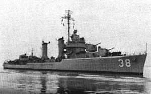 USS Thompson (DD-627) - Thompson as DMS-38 during the Korean War